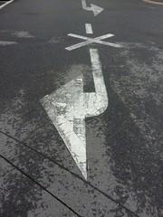차도의 방향표시