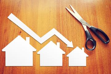 Concept of real estate sales drop