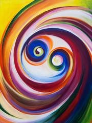 Multicolored spirals