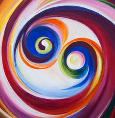 Spiraling circle