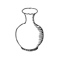 vase, sketch vector illustration