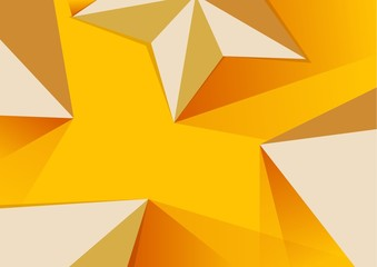Abstract Polygonal pyramid and star background