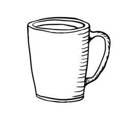 Cup sketch, vector illustration