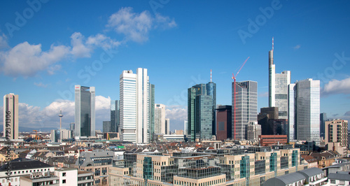 canvas print picture Frankfurt am Main Skyline