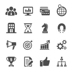 business and finance icon set, vector eps10