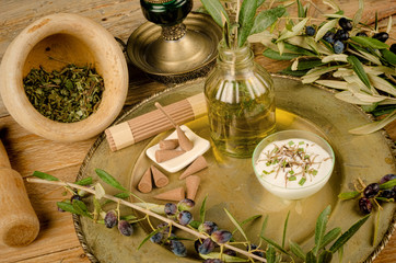 Olive oil based cosmetics