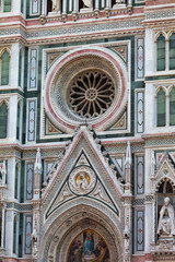 wall of Cathedral of Santa Maria del Fiore in Florence