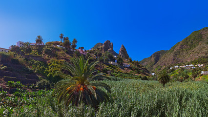 Hermigua valley in La Gomera island - Canary