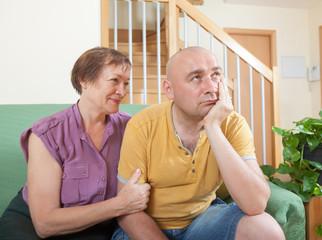 quarrel between  mother and adult son.