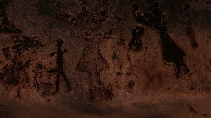 Authentique 7000 years old Rock paintings from Magura cave, Bg