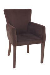 Velvet armchair isolated on white background