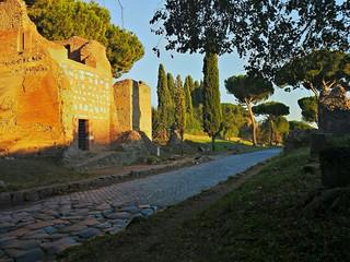 Tramonto sull'Appia Antica