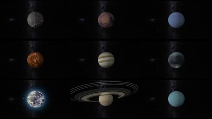 solar system planets with pluto