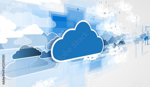 Leinwandbild Motiv Integration technology with nature, sky. Best ideas for Business