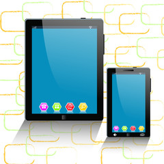 tablet computer and mobile phone template