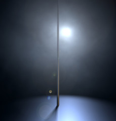Stripper Pole Spotlit