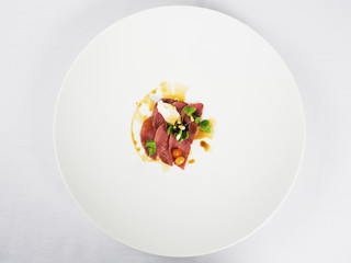 Gourmet food -smoked deer ham