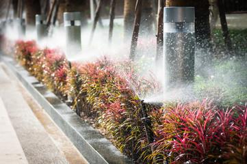 water springer inter the garden