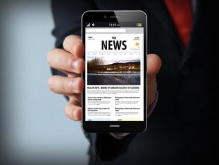 news businessman smartphone