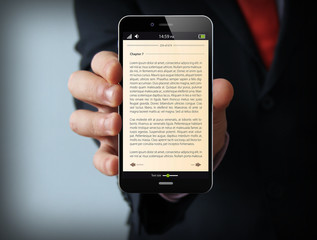 book businessman smartphone