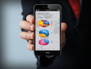 financial businessman smartphone