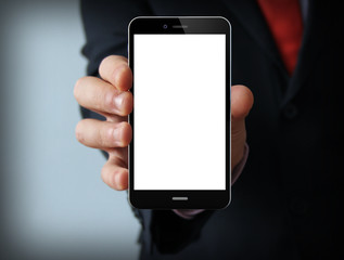 blank businessman smartphone