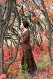 slender young woman druid