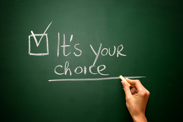 It's your choice on blackboard