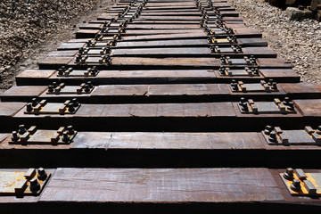 Railway sleepers for maintenance railroad in Croatia