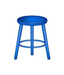Retro stool in blue design