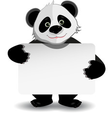 panda with white background