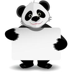 panda with white background