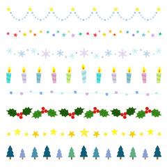クリスマス ラインセット / vector eps10