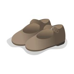 Zapatos niña fondo blanco
