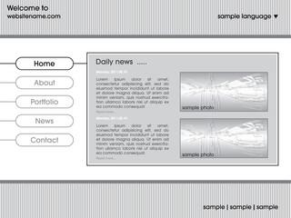Web site design template vector illustration