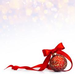 art Red Christmas ball