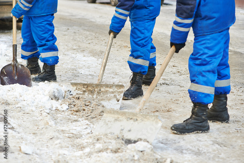 winter snow removal or city road cleaning
