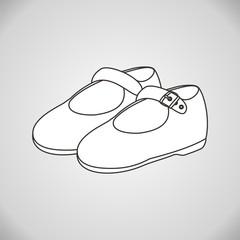 Zapatos para colorear fondo gris