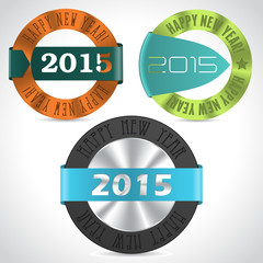 Various happy new year badges