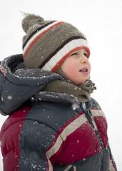 Winter child portrait