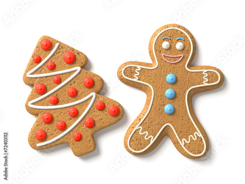 canvas print picture Gingerbread man