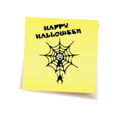 halloween on post it