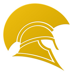 Spartan or Trojan helmet icon