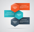 Abstract infographics with hexagon