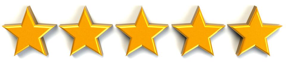 5 Sterne gold