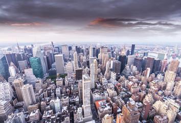 Beautiful sunset over Manhattan, New York City