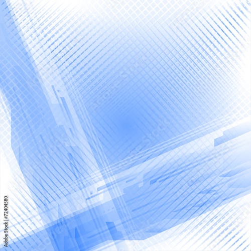 canvas print picture Abstract technical blue white background