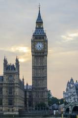 The clock tower, Big Ben.