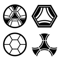 vector soccer club emblem ball pattern