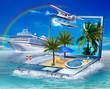 Mach mal Urlaub !, Ferieninsel, Wasserflugzeug, Kreuzfahrtschiff - 72404900